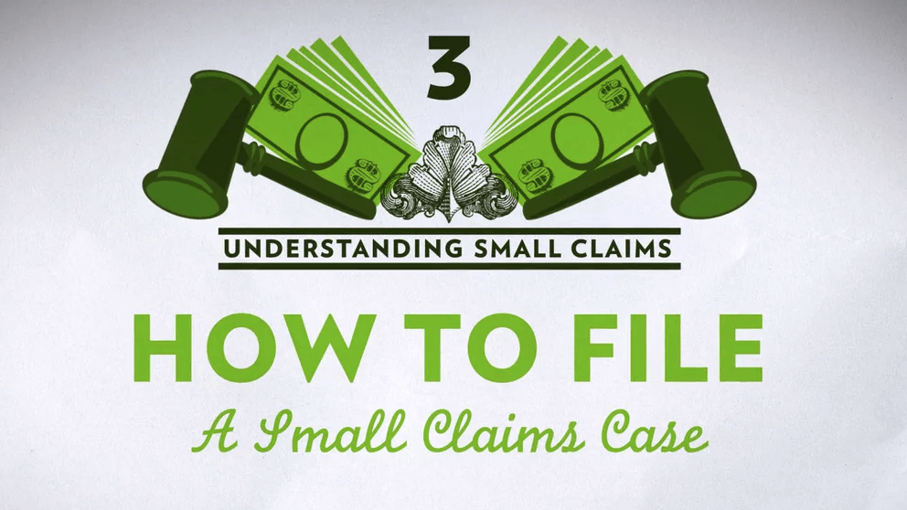 Small Claims Chapter 3 – How to File a Small Claims Case