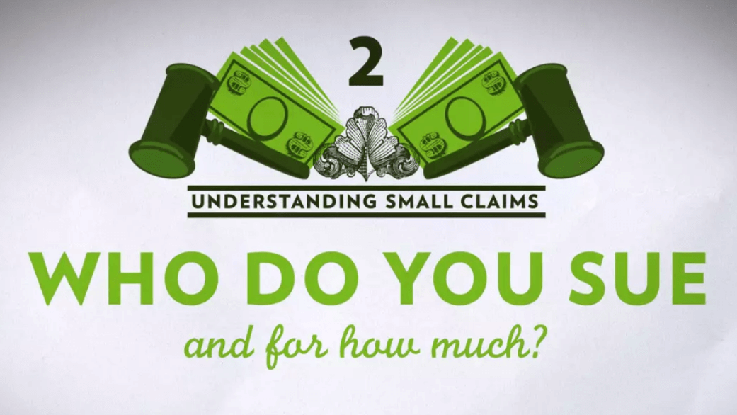 Small Claims Chapter 2 – Who Do You Sue and for How Much
